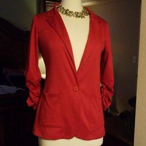American Rag medium stretch red blazer